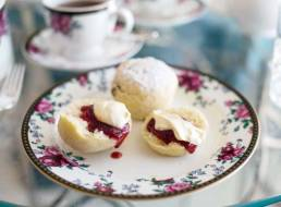 Signature scones with homemade jam and clotted cream