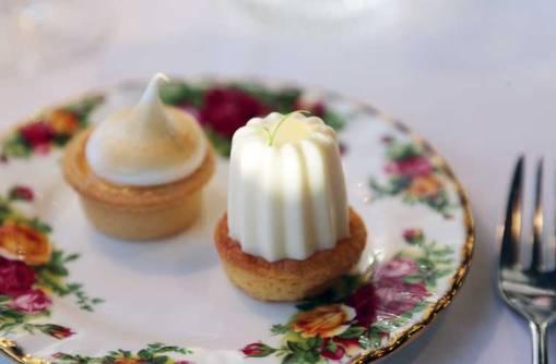Lemon Meringue Tart and Yoghurt Mousse and Sable Breton