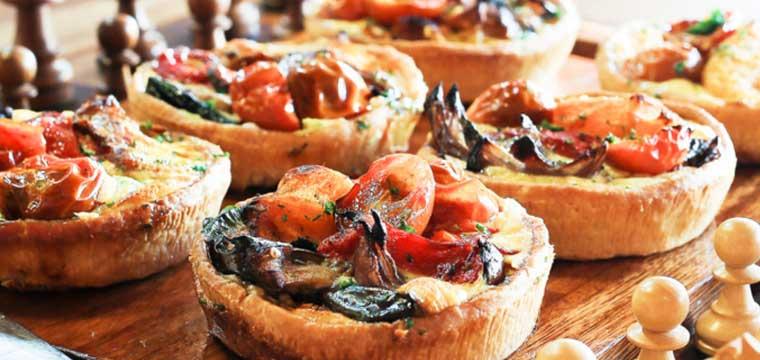 Roast Vegetable Tarts