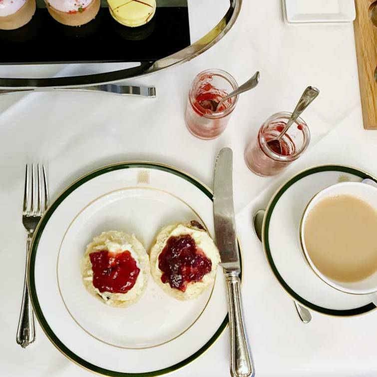 Afternoon tea at the Houses of Parliament, London