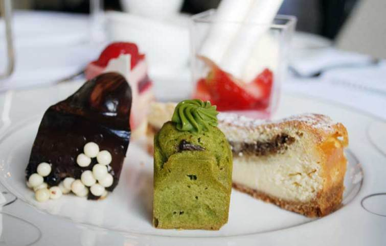 Selection of gateaux and pastries