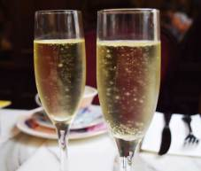 A glass of Australian sparkling wine