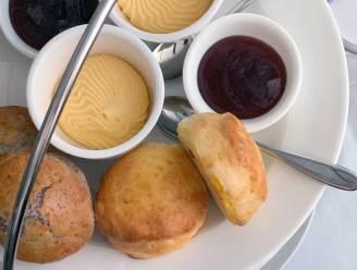 Traditional vanilla scone and raspberry & poppy seeds scones