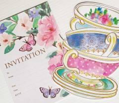 High Tea Party Invitations