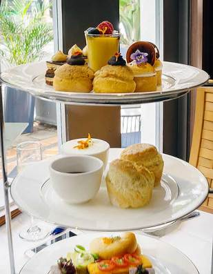 High Tea at Montereys Brasserie, Pan Pacific Perth