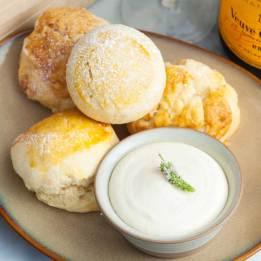 Buttermilk scones and cream - supplied photo