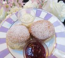 Scones with jam and ream
