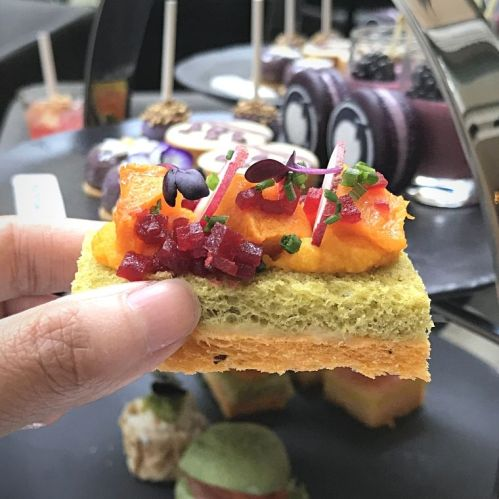 Purple Themed Afternoon Tea at The Fullerton Hotel Sydney
