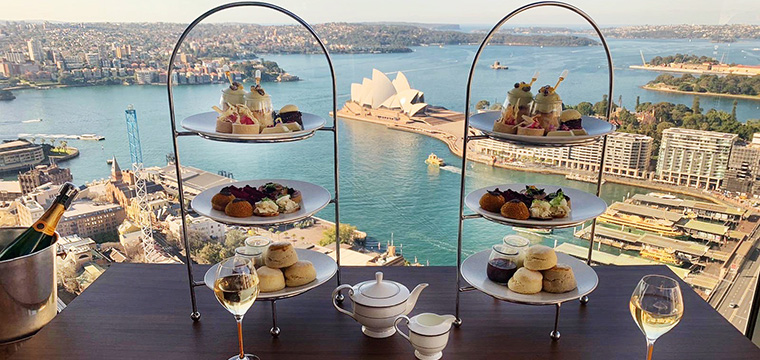 High Tea at Altitude, Shangri-La Hotel Sydney - supplied image