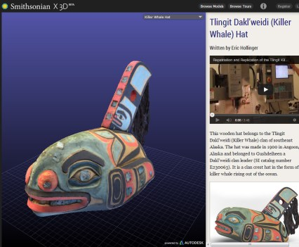 Smithsonian X 3D, Killer Whale Hat