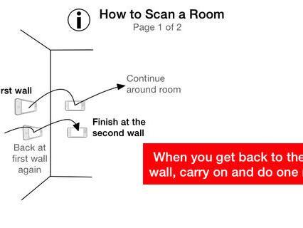 RoomScan app, da Locometric. Para desenhar qualquer planta baixa