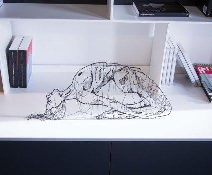 Escultura feita com Lix, caneta 3D