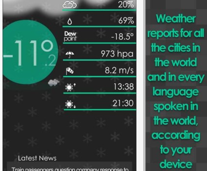 Weather …Wow. Apps para saber o estado do tempo