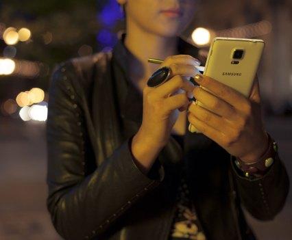 O novo Galaxy Note 4, da Samsung