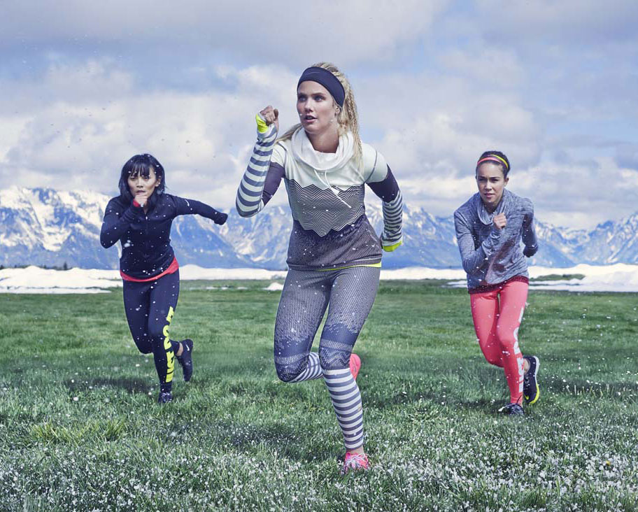 Exercícios com as atletas de Inverno na app Nike+ Training Club