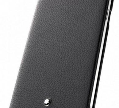 Capa em pele, da Montblanc, para Galaxy Note 4