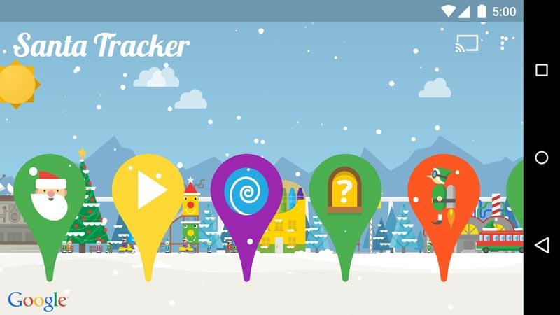 Apps para o Natal. Google: A viagem do Pai Natal