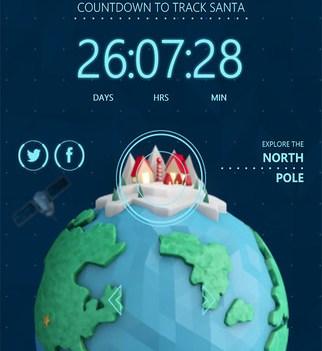 Apps para o Natal. Norad Tracks Santa