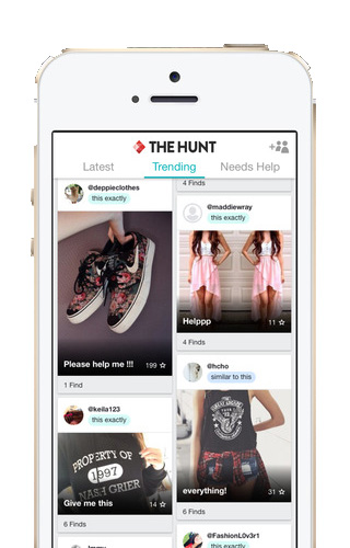 Moda no smartphone. The Hunt
