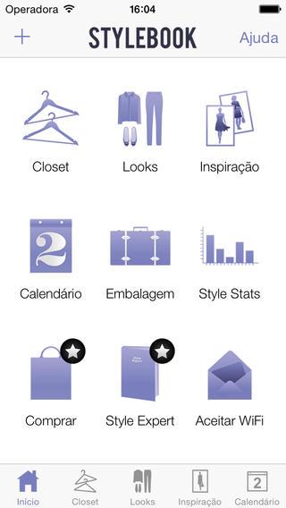 Moda no smartphone. Stylebook