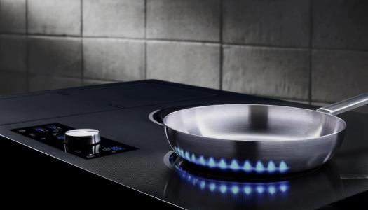 A chama virtual da cozinha do futuro