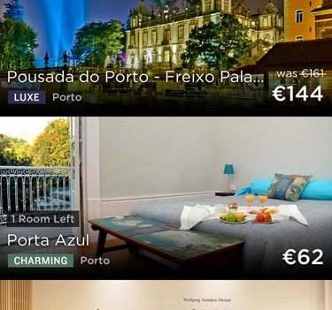 Viajar melhor e mais barato. App HotelTonight. Porto