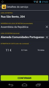 Apps para chamar táxis. Taximotions