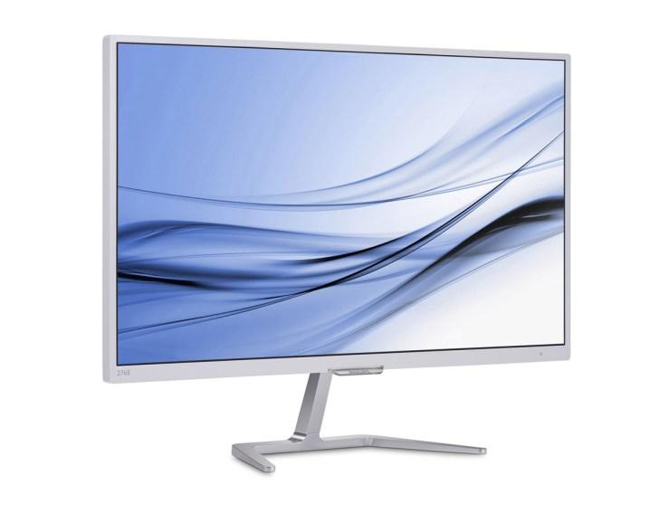 A elegância dos monitores da nova série-E, da Philips. Este é o 276E7QDSW