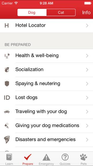 As melhores apps para o seu cão. Red Cross Pets
