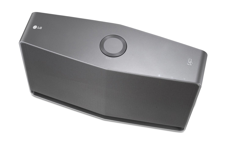 Coluna H5, que integra o sistema multi-room Music Flow, da LG