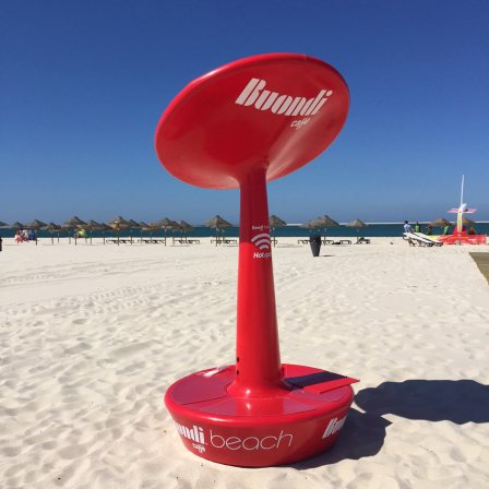 Wi-fi gratuito na praia com os Buondi hotspots