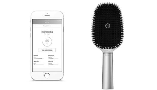 Uma escova de cabelo inteligente