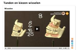 filmpje wisselen tanden en kiezen