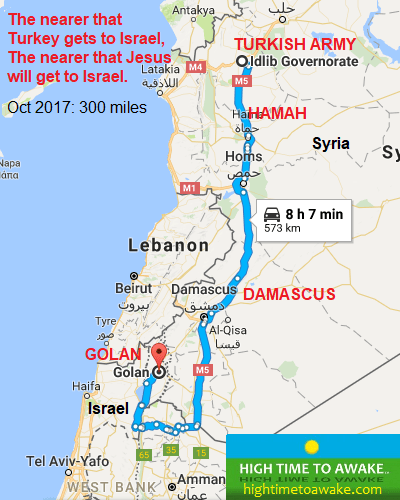 The nearer that Turkey gets to Israel The nearer that Jesus will get to Israel