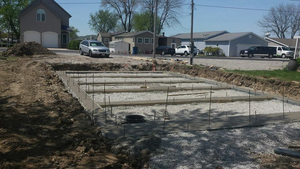 High Touch Homes Catawba Island footers