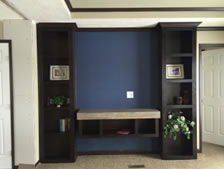 Built-In entertainment center in Manufactured Sectional LM-1