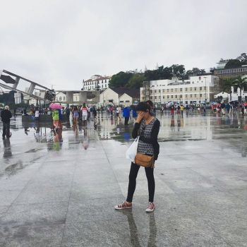 rainy day in rio