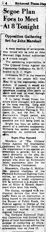 June 1 1950-segoe plan foes to meet-news