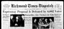 Nov. 7, 1951, Front Page, Expressway proposal is defeated