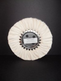 """8"""" High Luster Canton Flannel Buffing Wheel (X-Soft)"""