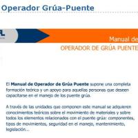 MANUAL de OPERADOR de PUENTE GRÚA - on line