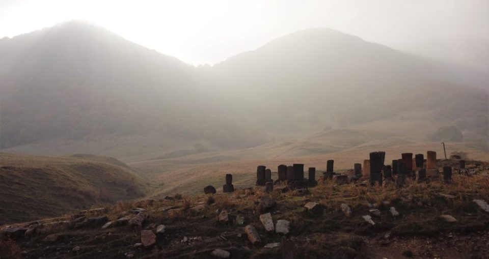An old cementary in the Alaverdi area.