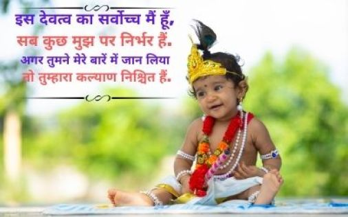 Lord Krishna Images With Quotes In Hindi