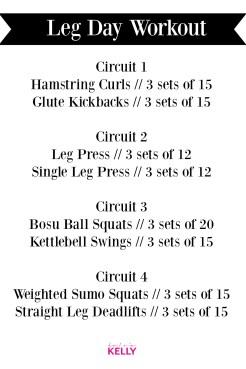 Leg Day Circuit Training for Stronger Legs