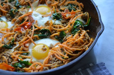 Sweet Potato Noodle Breakfast Bake