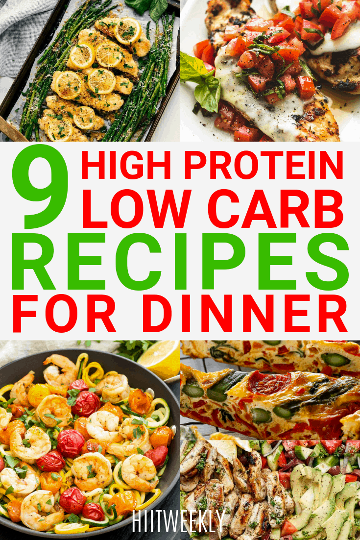 Lose weight faster with these 9 healthy dinners that are high in protein and have no carbs added. Perfect healthy keto meals for dinner and if you are clean eating.