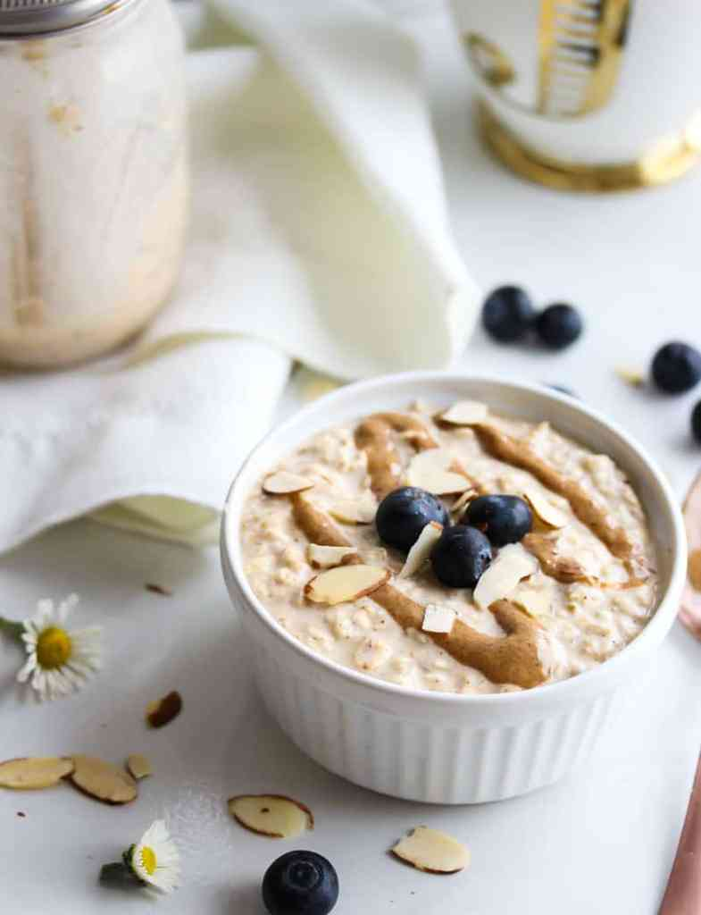 Try this simple overnight oat recipe for breakfast. With added protein.