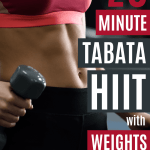 This weighted tabata HIIT workout will work your entire body and lasts just 20 minutes, for a quick and effective HIIT workout.