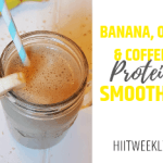 A yummy coffee based protein shake recipe to get you going in the mornings. This banana, oat and coffee protein smoothie is delicious. Make it today to help reach your weight loss goals.