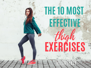 Get rid of unwanted thigh fat with these 10 exercises designed to target your inner thighs and glutes for more tighter and toned legs. Plus get the kettlebell thigh and butt workout to lose weight in your thighs from home.